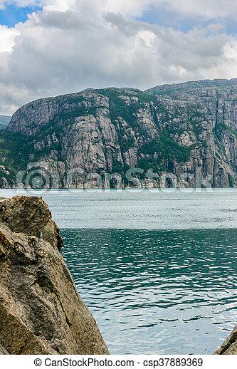 The beautiful Lysefjord, Norway - csp37889369