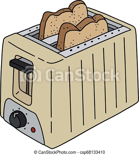 The beige electric toaster - csp68133410