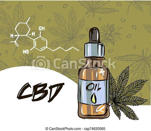 The benefits of CBD oil, medical uses for CBD oil, cannabis indica health benefits infographics - csp74630565