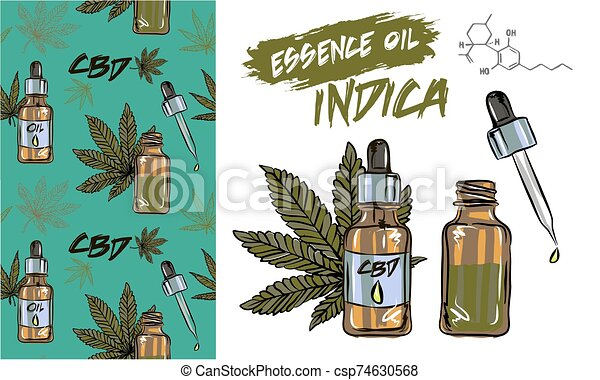 The benefits of CBD oil, medical uses for CBD oil, cannabis indica health benefits infographics - csp74630568