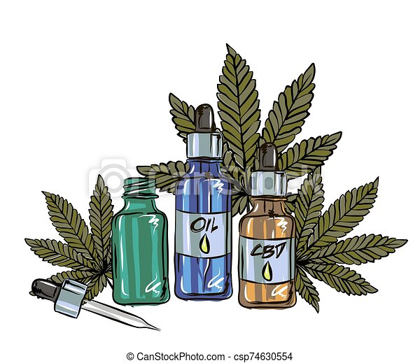 The benefits of CBD oil, medical uses for CBD oil, cannabis indica health benefits infographics - csp74630554