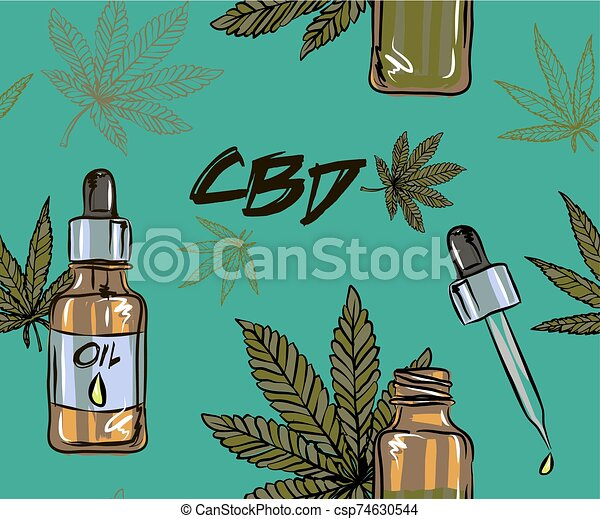 The benefits of CBD oil, medical uses for CBD oil, cannabis indica health benefits infographics - csp74630544