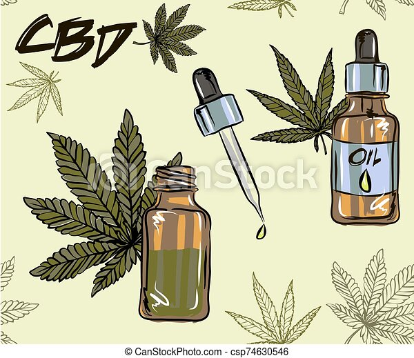 The benefits of CBD oil, medical uses for CBD oil, cannabis indica health benefits infographics - csp74630546