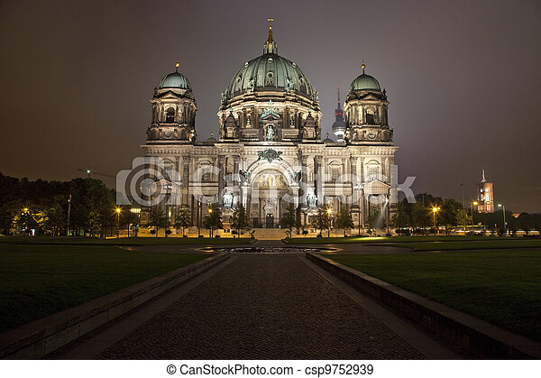 The Berliner Dom and the TV Tower in Berlin - csp9752939