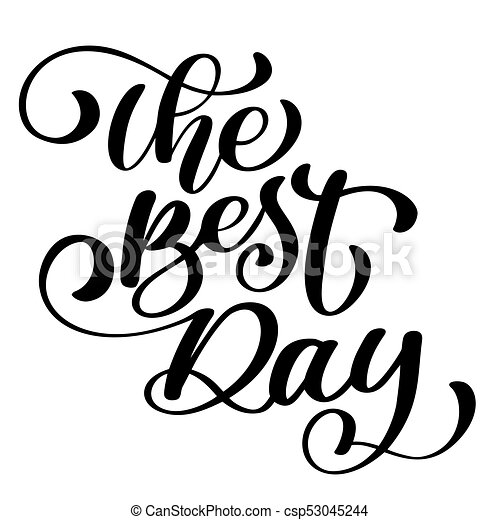 the best day postcard wedding text phrase ink illustration eps rh canstockphoto co uk clipart postcard border postcard template clipart