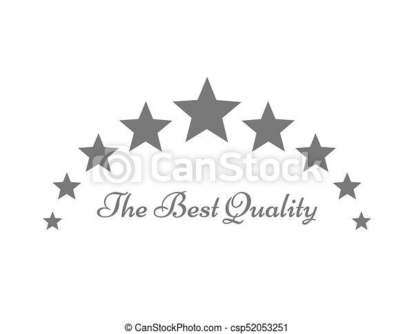The Best Quality Stars Symbol Or Logo Vector Illustration