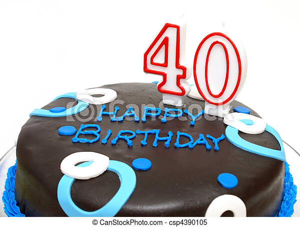 The Big 40 A Birthday Cake For Someone At