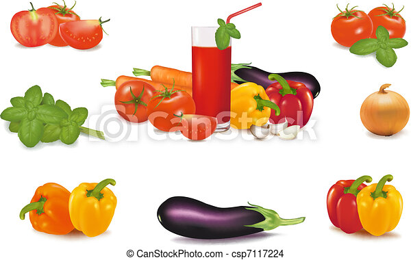 The big colorful group of vegetable - csp7117224