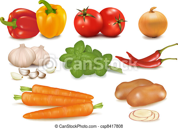 The big colorful group of vegetable - csp8417808