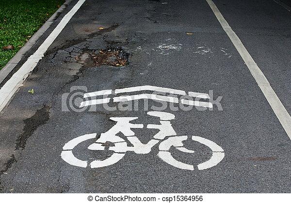 The bike was damaged. - csp15364956