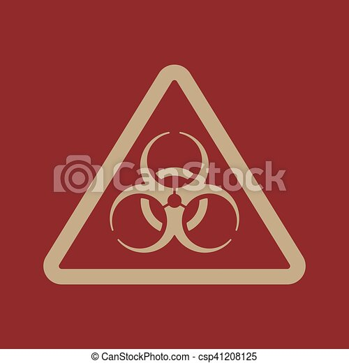 The Biohazard Icon Biohazard Symbol Flat Vector Illustration