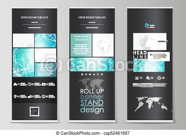 the black colored vector illustration of editable layout of roll up