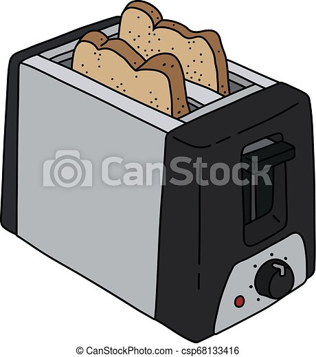 The black electric toaster - csp68133416