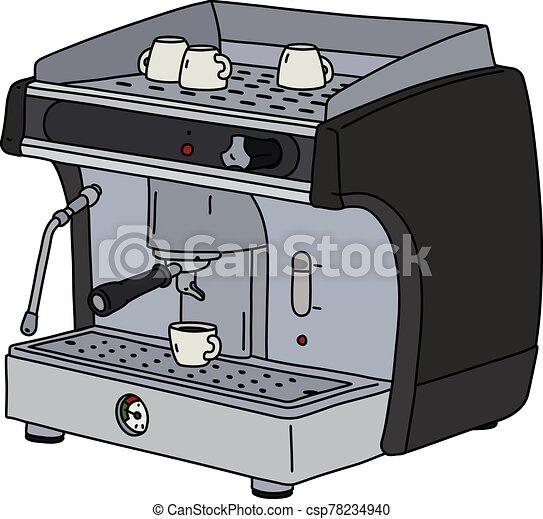 The black espresso maker - csp78234940
