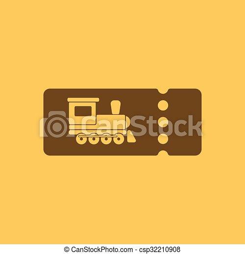 The Blank Train Ticket Icon Travel Symbol Flat
