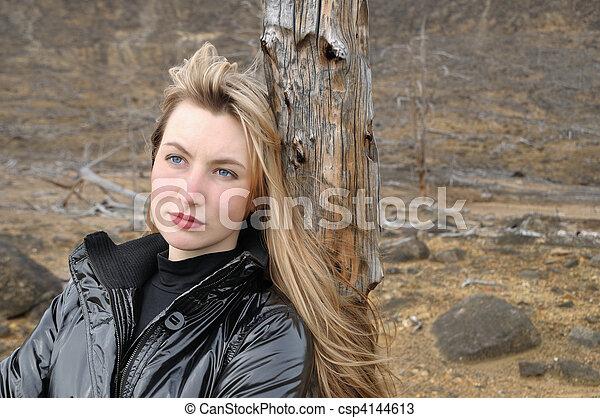 The blonde in black - csp4144613