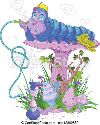 The Blue Caterpillar - csp13882850