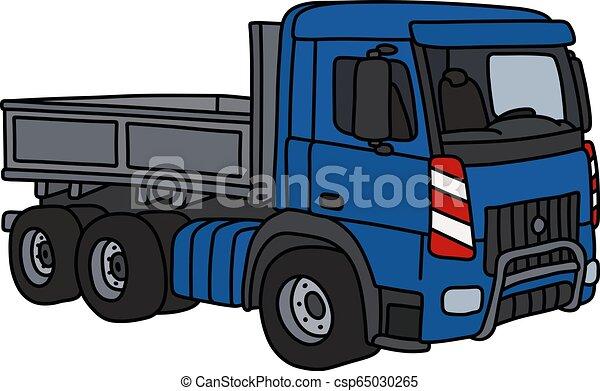 The blue heavy truck - csp65030265