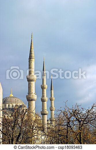the Blue Mosque in Istanbul, Turkey. - csp18093463