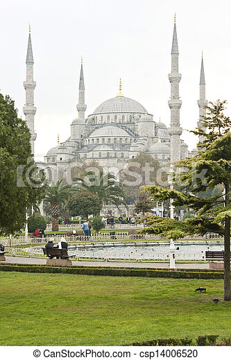 The Blue Mosque in Istanbul, Turkey - csp14006520