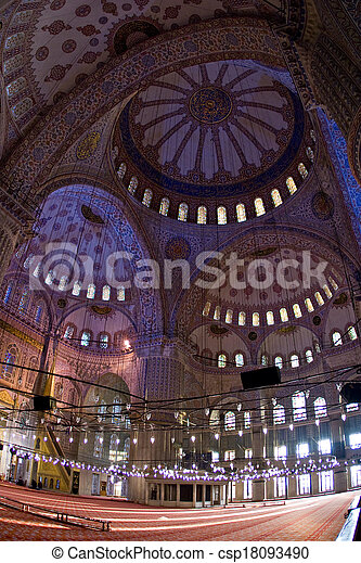 the Blue Mosque in Istanbul, Turkey. - csp18093490