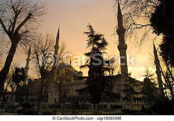 the Blue Mosque in Istanbul, Turkey. - csp18093498
