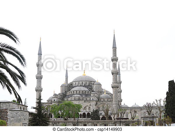 The Blue Mosque in Istanbul, Turkey - csp14149903