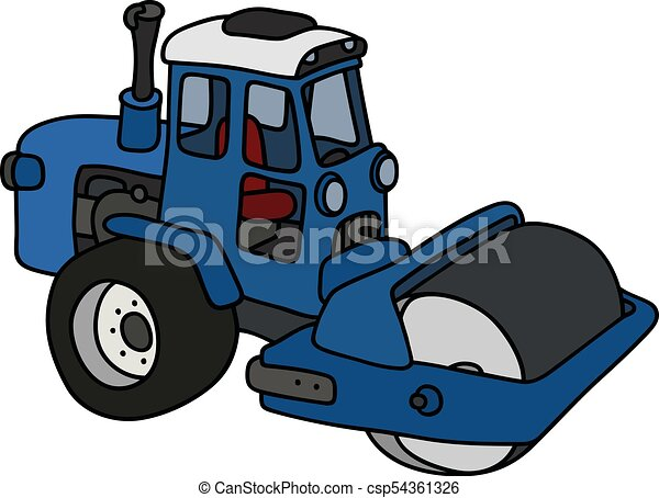 The blue road roller - csp54361326