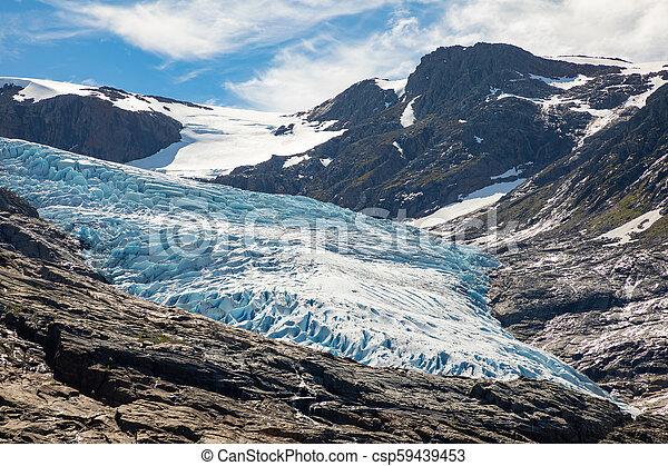 The blue Svartisen Glacier, north Norway - csp59439453