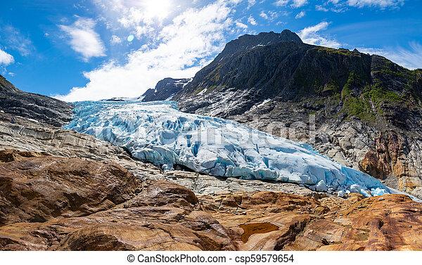 The blue Svartisen Glacier, north Norway - csp59579654