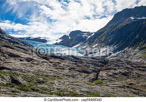 The blue Svartisen Glacier, north Norway - csp59468340