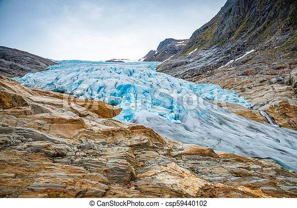 The blue Svartisen Glacier, north Norway - csp59440102