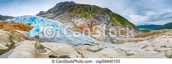 The blue Svartisen Glacier, north Norway - csp59440103