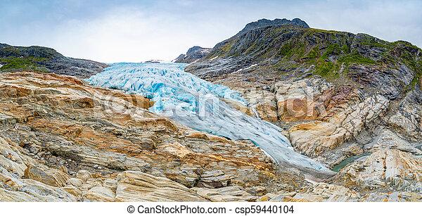 The blue Svartisen Glacier, north Norway - csp59440104