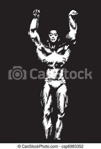 the bodybuilder - csp6983352