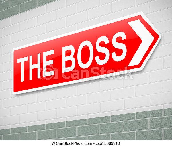 The Boss sign. - csp15689310