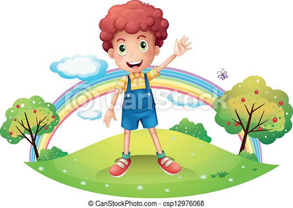 The boy and the rainbow - csp12976068
