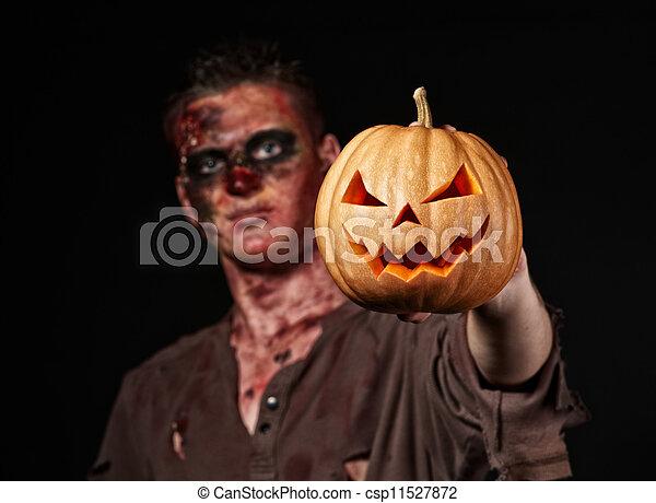 The boy is zombie - csp11527872