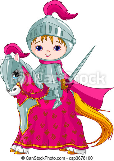 The Brave Knight on the horse - csp3678100
