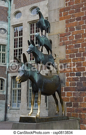 Image result for bremen town musicians statue in bremen