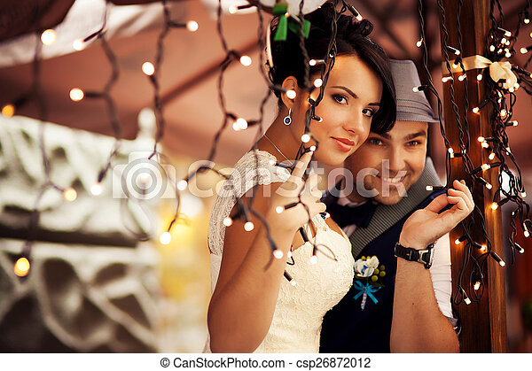 The bride and groom, tenderness - csp26872012