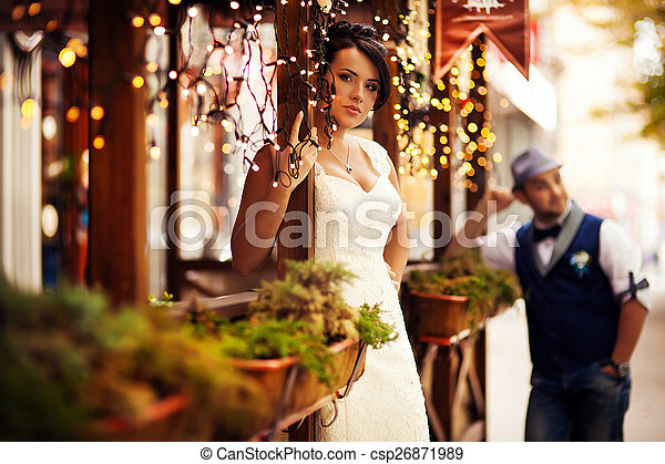 The bride and groom, tenderness - csp26871989