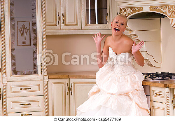 the bride laughs - csp5477189