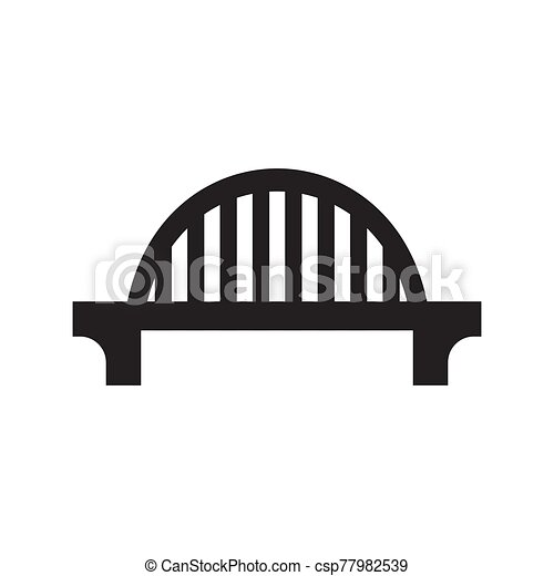 The bridge icon is black on a white isolated background. Vector image - csp77982539