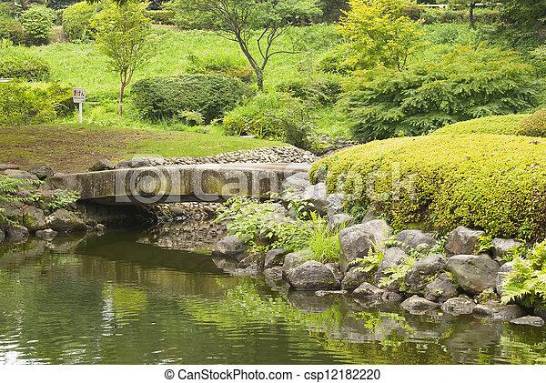 The bridge in Japanese garden - csp12182220
