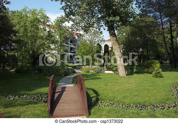 The bridge in park - csp1373022