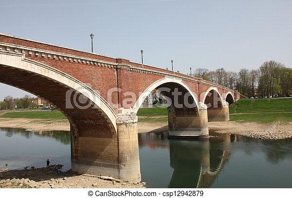 The bridge over the Kupa, Sisak - csp12942879