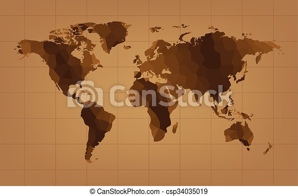 The brown world map abstract background vector vector clip art the brown world map abstract background vector gumiabroncs Gallery