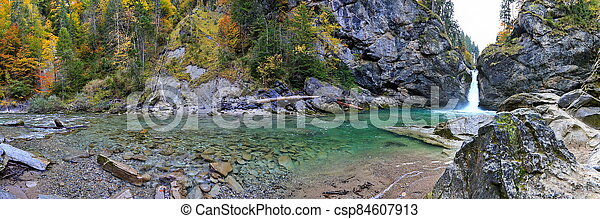The Buchenegger waterfalls in Bavaria in the Allg?u - csp84607913