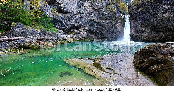 The Buchenegger waterfalls in Bavaria in the Allg?u - csp84607968
